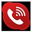 Skype Phone Alt Red