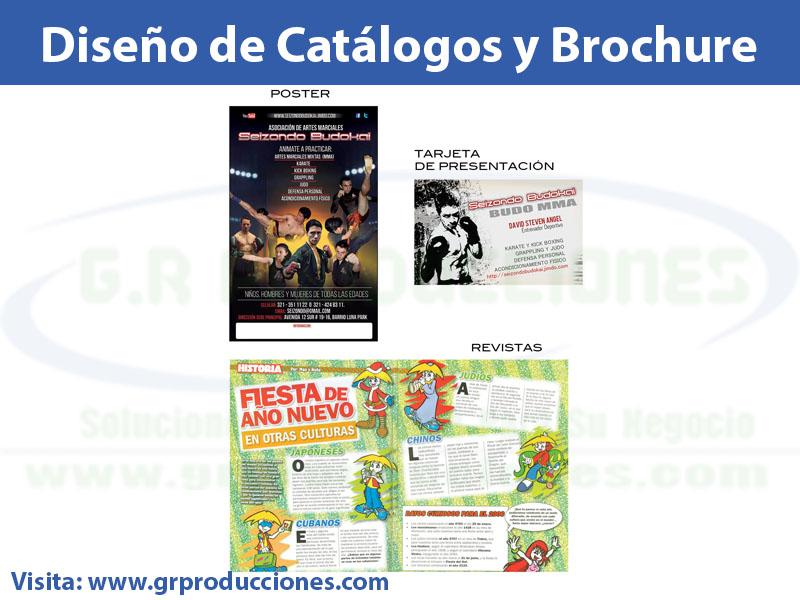 diseno de brochure catalogos y tarjetas 1